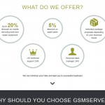 Лендінг-сторінка для GsmServer
