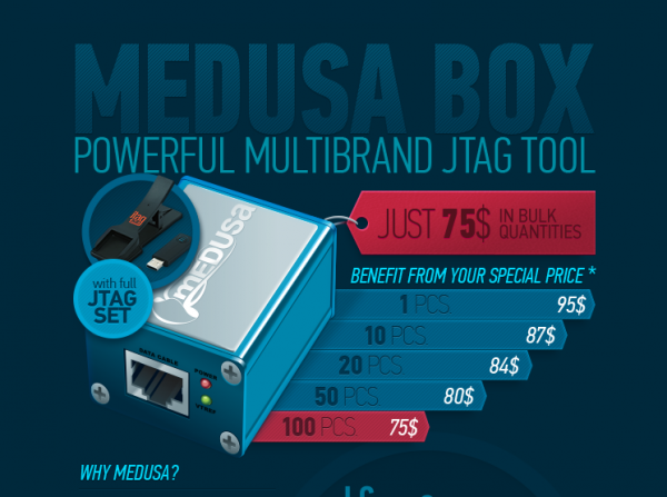Інфографіка для Medusa JTAG Box