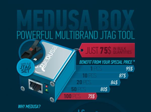 Medusa JTAG Box Infographics