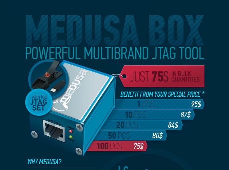 Инфографика для Medusa JTAG Box