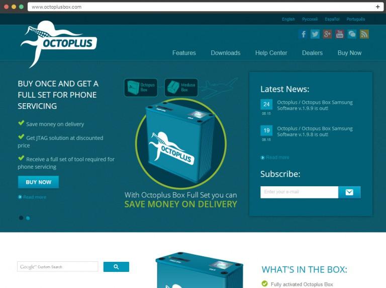 Octoplus Box Website