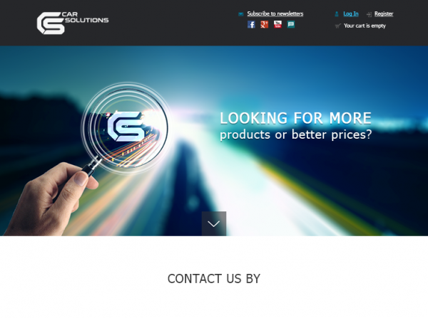 Landing Page for Car Solutions