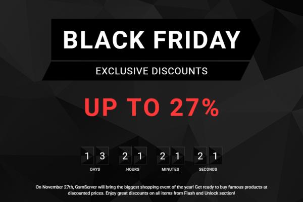Black Friday Sale GsmServer Landing Page