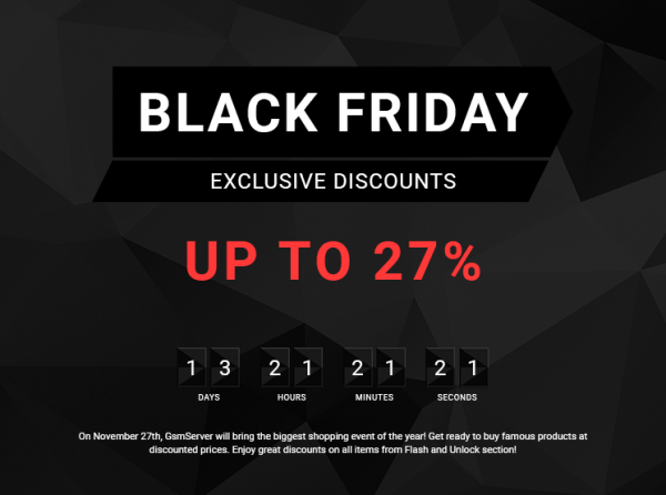 Лендинг «Black Friday Sale»