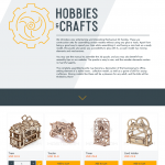 Целевая страница Hobbies & Crafts для ToolBoom