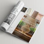 Дизайн страницы рекламного журнала отеля Леополис