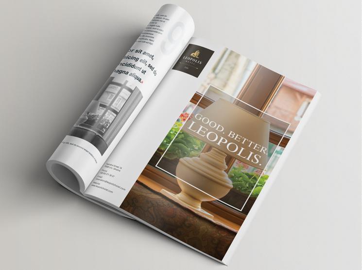 Дизайн рекламного журнала отеля «Леополис»