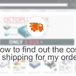 How to find out the shipping cost for the order?