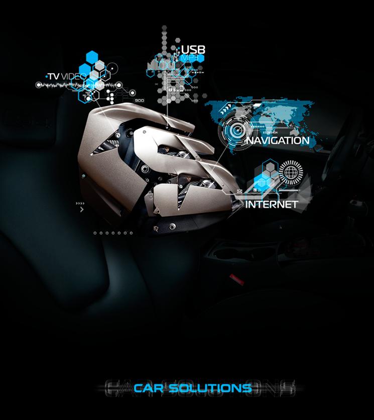 3D-логотип и плакат для Car Solutions