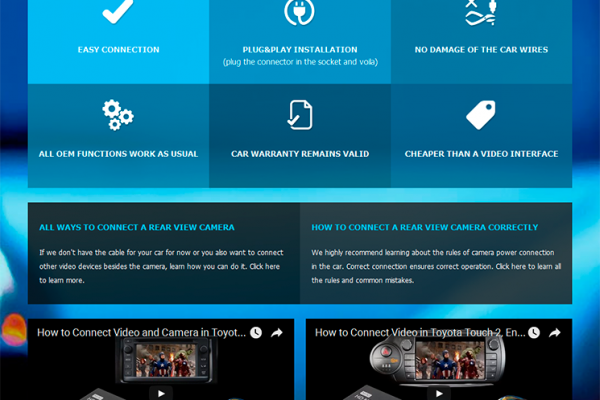 Cable Products Landing Page